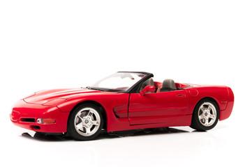Deurstickers Snelle auto s corvette rojo