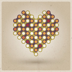 Cuore Retro - Vintage background with old style heart