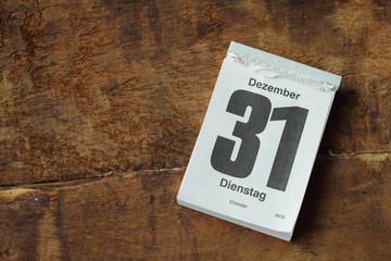 kalenderblatt silvester