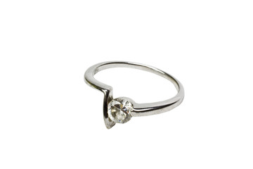 Close-up of a platinum ring