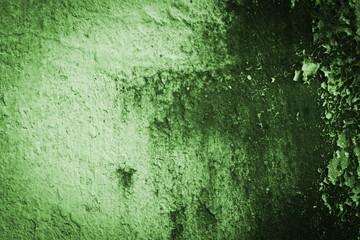 Grunge green cement plaster texture