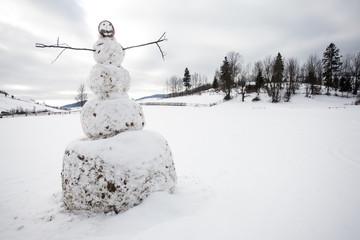 A big snowman