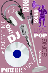 DJ set illustration