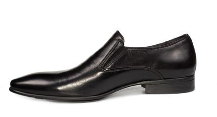 Elegant black leather mens shoe