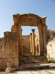 Ancient Roman ruins in Jerash, Jordan.