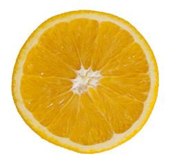 sliced ??orange on white background