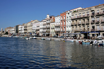 Sete Harbor in Southern France