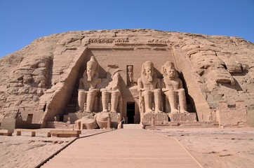 In de dag Egypte The Great Temple of Abu Simbel, Egypt