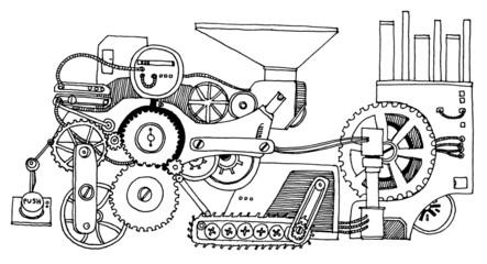 Mechanism Hand Drawn