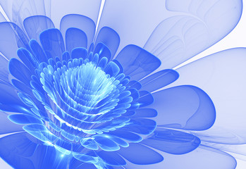 Wall Mural - blue abstract flower blossom