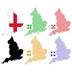 Fotobehang Pixel England