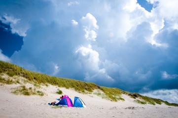 Fototapete - ein Tag am Strand