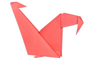 Canvas Prints Geometric animals chicken origami