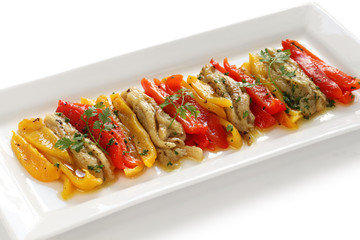 escalivada, grilled marinated vegetables