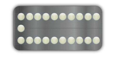 Plaquette de pilules contraceptives