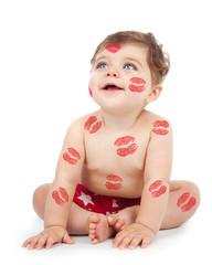Cheerful baby boy