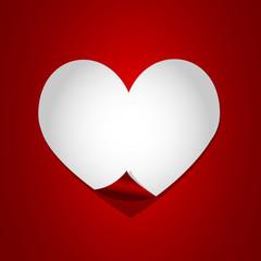 white heart paper