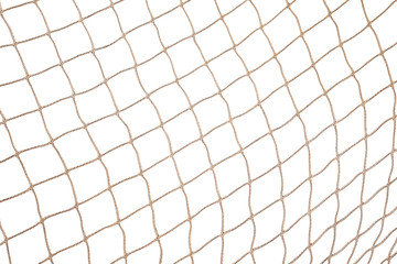 Fishing Net Background Isolated on White Background