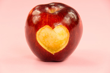 Valentine's day apple with heart