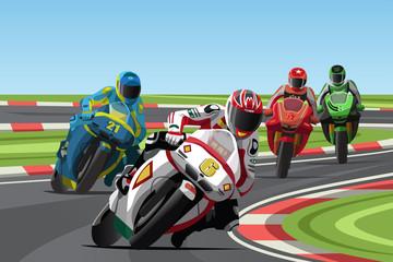 La pose en embrasure Motocyclette Motorcycle racing