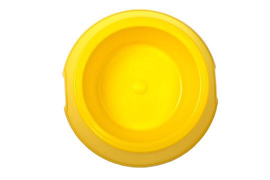 Empty yellow bowl