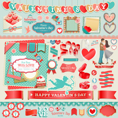 Wall Mural - Valentine`s Day set