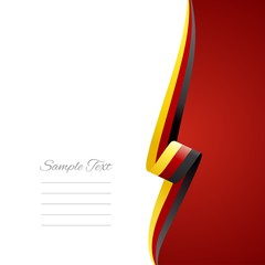 German right side brochure cover vector