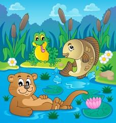 Canvas Prints River, lake River fauna theme image 2
