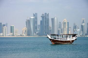 Doha Qatar Modern buildings sky scrapper 2022 Football