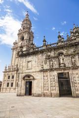 East facade of Santiago de Compostela cathedral, Spain