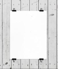 white placard