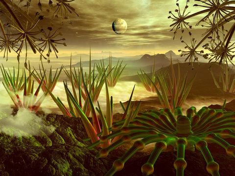 Steamy Jungle on Faraway Planet