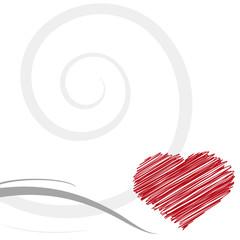 decorazione cuore stilizzato