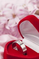 Titanium engagement ring