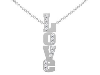 Love pendant on white background.