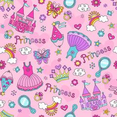 Princess Fairy Tale Tiara Seamless Pattern Vector Design