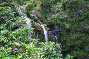 Waterfall in Maui Hawaii