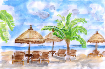 illustration Seaside holiday