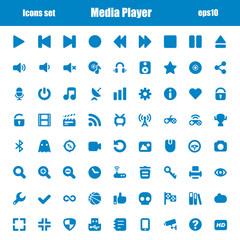 media player blue