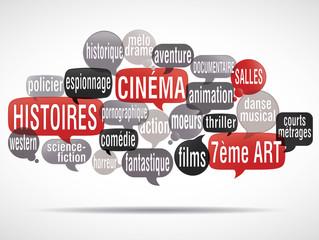 nuage de mots bulles : cinéma
