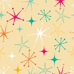 Retro style starry pattern