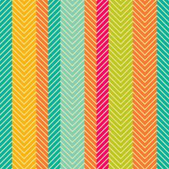 Poster ZigZag Retro abstract herring-bone seamless pattern