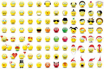 Smilies Smiley Emoticon faces icon set 7