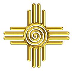 Zia Sun - Spirale - Zia Pueblo - New Mexico
