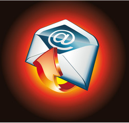 Red Hot Email Icon