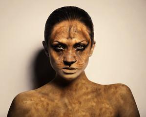 sexy lion woman