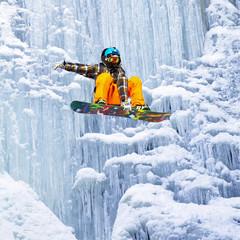 jump the waterfall of ice