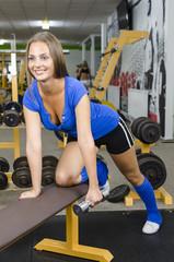 Sexy Girl in Fitness Studio