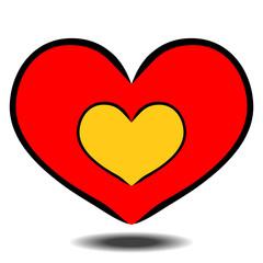 heart shape for love hand-drawn symbol