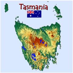 Tasmania Australia island background vacation